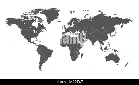 Blank grey political world map isolated on white background blank grey political world map isolated on white background worldmap vector template for website gumiabroncs Images