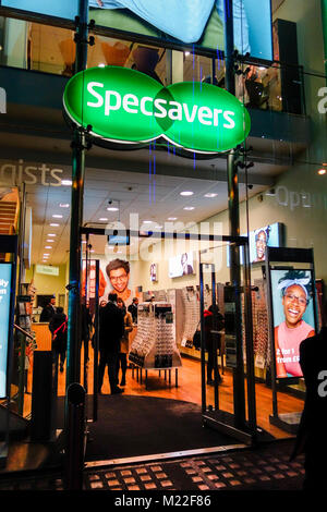 Specsavers, opticians, store front in London, UK - Stock Photo
