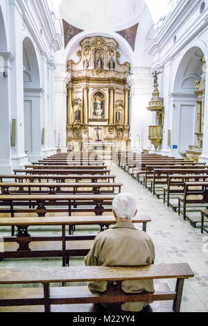 Buenos Aires Argentina Iglesia de Santa Catalina Church and Monastery of Saint St. Catherine of Siena 1745 historic - Stock Photo