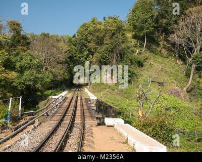 METTUPALAYAM, INDIA Nilgiri mountain railway at Mettupalayam. - Stock Photo
