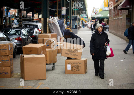 New York city  Coney Island, Brighton Beach Avenue in the Russian district - Stock Photo