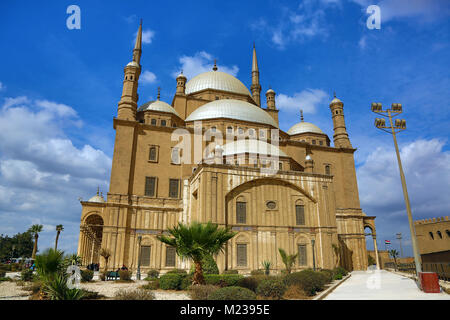 Mosque of Muhammad Ali (or Alabaster Mosque) at the Cairo Citadel in Cairo, Egypt - Stock Photo