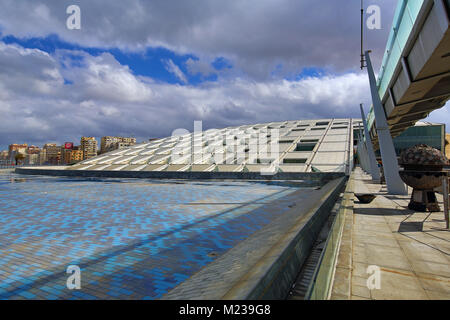 Bibliotheca Alexandrina, the new Library of Alexandria in Alexandria, Egypt - Stock Photo