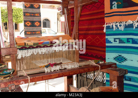 Textile artistan shop in Bucerias, Nayarit, Mexico. - Stock Photo