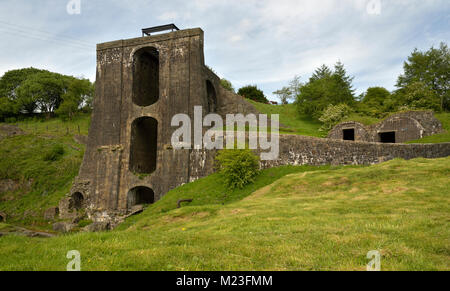 Blaenavon Heritage Site, The Water Balance Lift Tower - Stock Photo