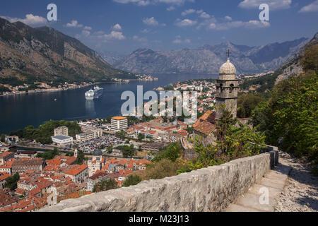 Coastal town of Kotor, Montenegro - Stock Photo