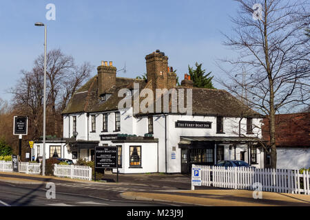 Ferry Boat Inn pub on Ferry Lane in Tottenham in London, England United Kingdom UK - Stock Photo