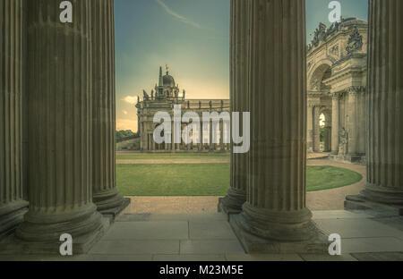 Columnade, Neues Palais, Potsdam - Stock Photo