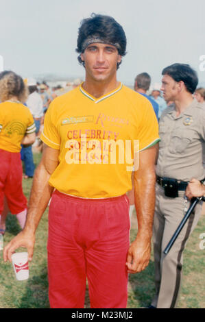 LAS VEGAS, NV - MAY 31: Actor Christopher Mayer at Riviera 9th Annual Celebrity Softball Game on May 31, 1981 in - Stock Photo