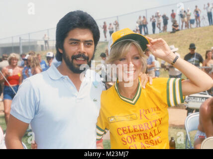 LAS VEGAS, NV - MAY 31: Actress Donna Mills at Riviera 9th Annual Celebrity Softball Game on May 31, 1981 in Las - Stock Photo