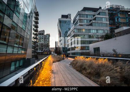 New York Highline park - Stock Photo