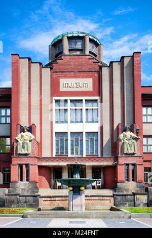 CZECH REPUBLIC, HRADEC KRALOVE - MAY 7, 2015: famous modernist Museum of East Bohemia by arch. J. Kotera, historical town Hradec Kralove, Czech republ