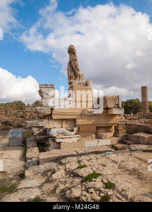 Naval monument in Cyrene Agora - Stock Photo