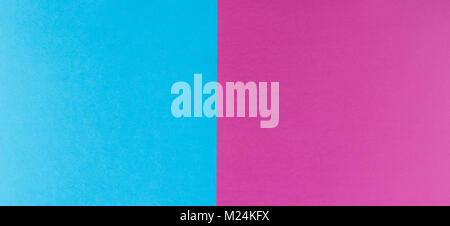 Two tone of blue and purple paper background - Stock Photo