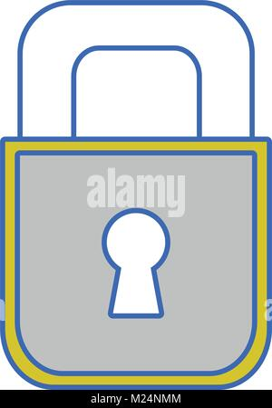 padlock object to security and protection symbol - Stock Photo