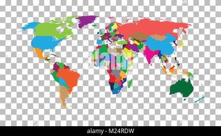 Blank colorful political world map isolated on white background world map vector template for website infographics gumiabroncs Gallery