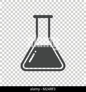 Chemical test tube pictogram icon. Chemical lab equipment isolated on isolated background. Experiment flasks for - Stock Photo