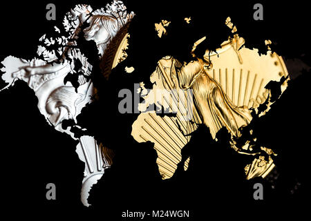 World map black gold stock photo royalty free image 115129596 alamy world map in space 3d render gold and silver as renew opportunity worldwide rising stock photo gumiabroncs Images