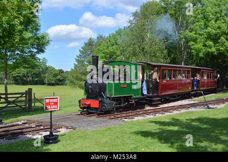 1897 Decauville 0-4-2 Steam Locomotive - Stock Photo