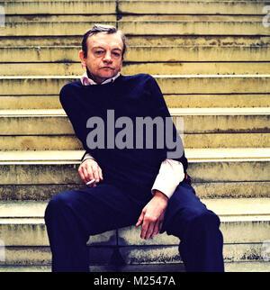 Mark E. Smith lead singer of the Fall band photographed in Islington London, England, United Kingdom. - Stock Photo