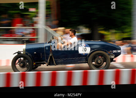 Brescia, Italy. 18th, May 2017. Mathias Sielecki and Jean Luc Dubois from Argentina, on their model BUGATTI Type - Stock Photo