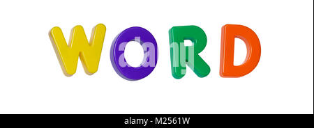 The word 'word' made up from coloured plastic letters - Stock Photo