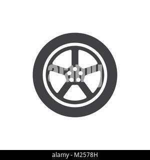 Car wheel. Illustration on white background for design - Stock Photo