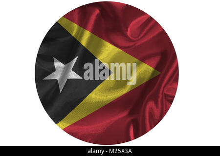 Timor Leste flag ,3D East Timor national flag 3D illustration symbol - Stock Photo