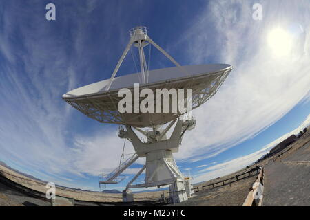 Call Home - Very Large Array (VLA) in New Mexico - Stock Photo