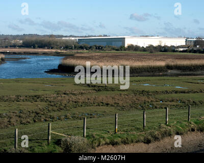 Lower Test Estuary, Southampton Water, Hampshire. Area of coastal and wetland habitats in a tidal estuary. UK - Stock Photo