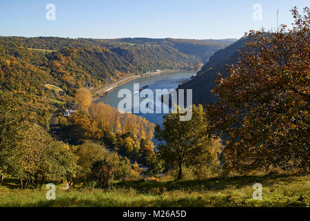 Loreley, Upper Middle Rhine - Stock Photo
