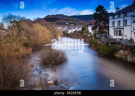 River Dee, Llangollen, Denbighshire, North Wales, UK - Stock Photo
