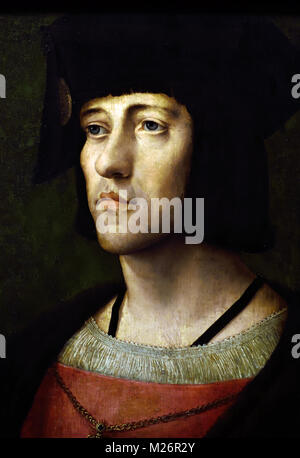 John of Luxembourg, Lord of Ville (1475-1508). 1500 Anonymous (Flanders) 16th-century  Belgian, Belgium, Flemish, - Stock Photo