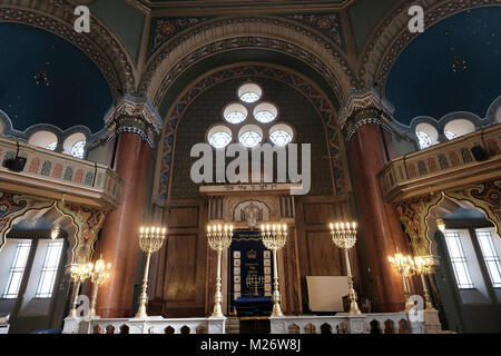 Interior view of the Sofia Synagogue the largest synagogue in Southeastern Europe, and the third-largest in Europe - Stock Photo