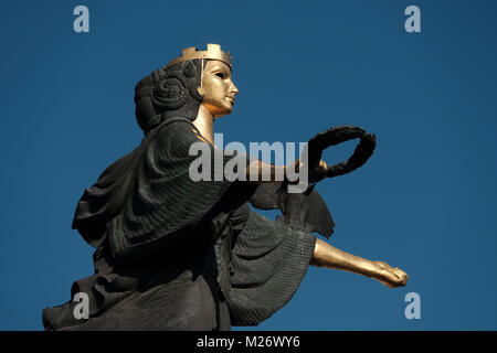 The Statue of Sveta or Saint Sofia which is a monumental sculpture by the sculptor Georgi Chapkanov, erected in - Stock Photo