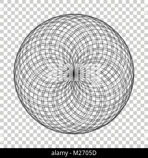 Spirograph element vector illustration on isolated background. Abstract symbol. - Stock Photo