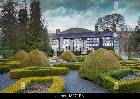 Plas Newydd House and Gardens, Llangollen, Denbighshire, North Wales, UK - Stock Photo