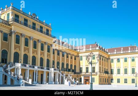 Austria, Vienna,  The main facade of the Schonbrunn Palace - Stock Photo