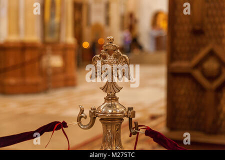 Golden decor in the Orthodox Church. - Stock Photo