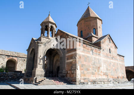 The Khor Virap, meaning deep pit or 'deep well' is an Armenian Apostolic Church monastery located in the Ararat - Stock Photo