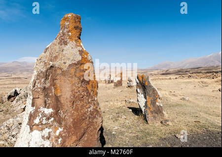 Zorats Karer or Carahunge is a prehistoric site with astronomical menhirs,near the city of Sisian in the Syunik province of Armenia.