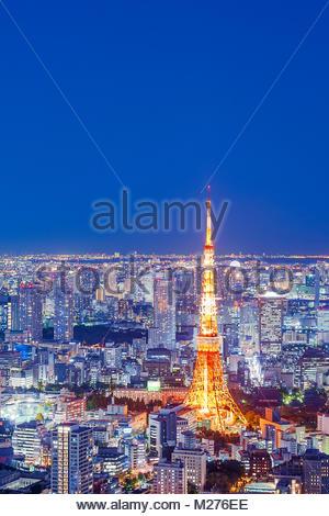 Tokyo Tower Tokyo Skyline City Lights - Stock Photo