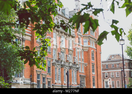 LONDON, UNITED KINGDOM - August 15th, 2014: beautiful architecture in London cty centre near Westminster - Stock Photo