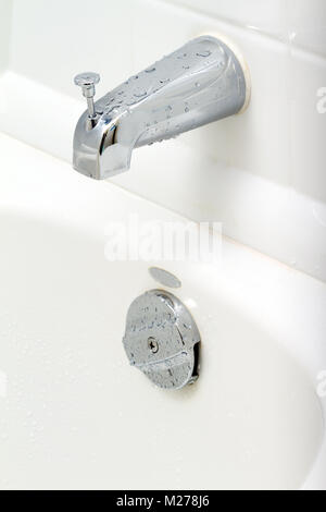 Water switch in the bathroom - Stock Photo