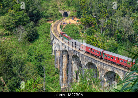 Nine Arches Bridge, Ella, Sri Lanka, Asia - Stock Photo