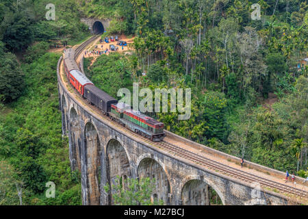 Nine Arches Bridge, Ella, Sri Lanka, Asia - Stock Photo