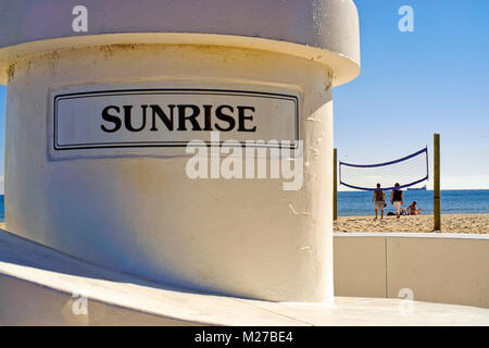 Ft. Lauderdale at the Beach, Sunrise Blvd. A1A, Florida USA - Stock Photo