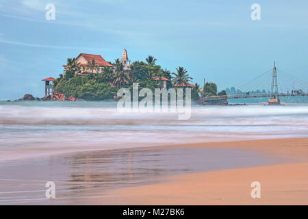 Paravi Duwa Temple, Matara, Sri Lanka, Asia - Stock Photo
