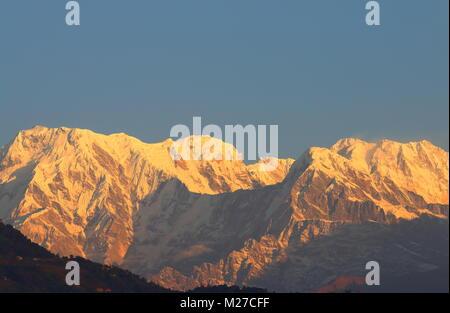 Machhapuchhre Himalaya mountain landscape Annapurna Pokhara Nepal - Stock Photo