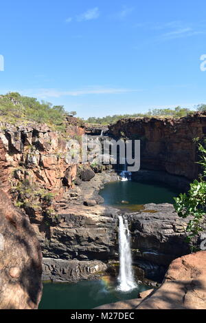 Famous Mitchell Falls,Mitchel river,Kimberly Region, Top End Western Australia - Stock Photo